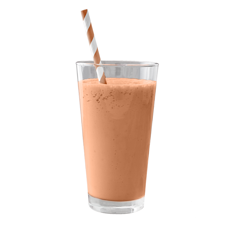 <h3>Peanut Butter Cocoa</h3>Raw Cacao, Organic Peanut Butter, Banana, Chocolate Almond Milk