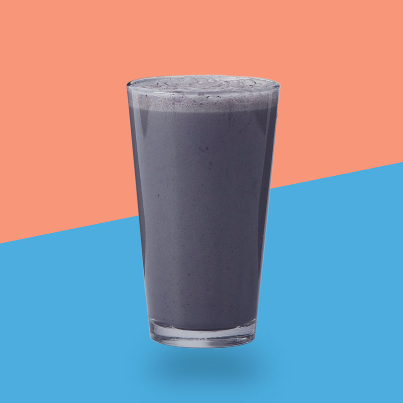 <h3>Blue Spirulina</h3>Spirulina, Blueberries, Vanilla Whey Protein, Banana, Vanilla Extract, Almond Milk