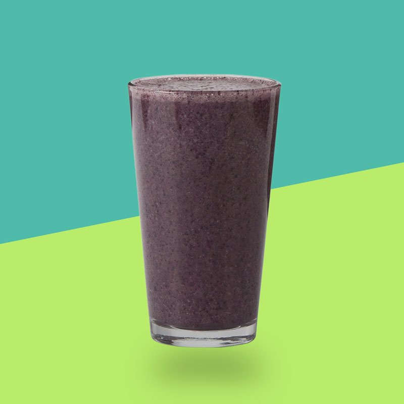 <h3>Blueberry Matcha</h3>Blueberries, Matcha, Raw Honey, Banana, Cinnamon, Turmeric, Vanilla Almond Milk