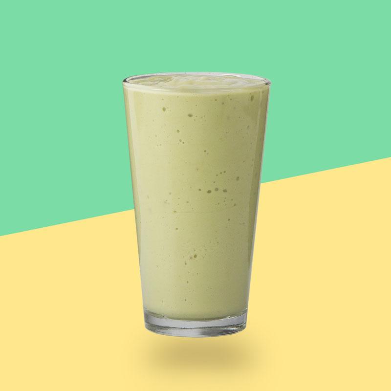 <h3>Creamy Avocado</h3>Avocado, Camu Camu, Vanilla Almond Milk, Banana, Agave