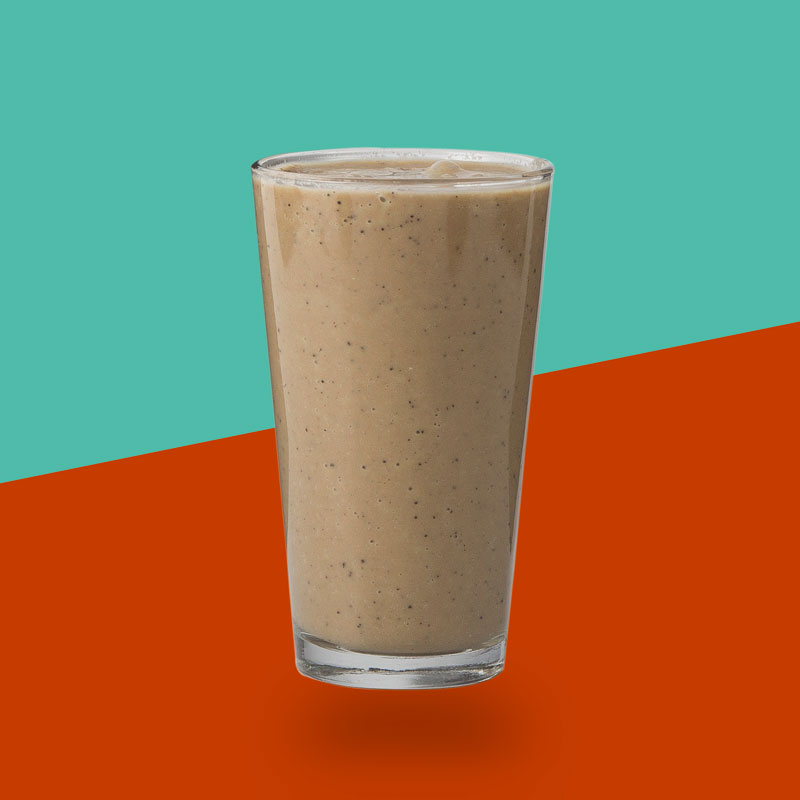 <h3>Mocha Bean</h3>Organic Coffee, Avocado, Whey Protein, Cinnamon, Almond Butter, Coconut Oil, Coconut Milk, Chocolate Almond Milk