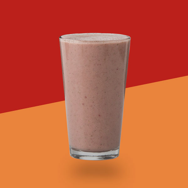 <h3>PB + Jelly Protein</h3>Peanut Butter, Strawberries, Vanilla Whey Protein, Banana, Himalayan Pink SaltAlmond Milk